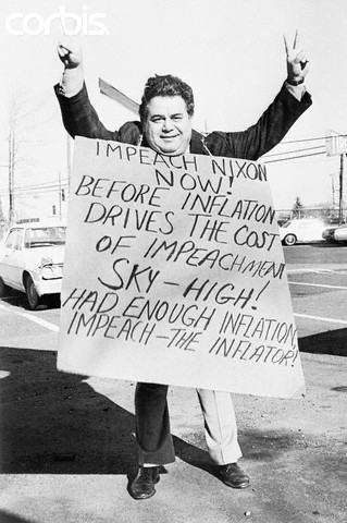 Samuel J. Byck Carrying a Picket Sign