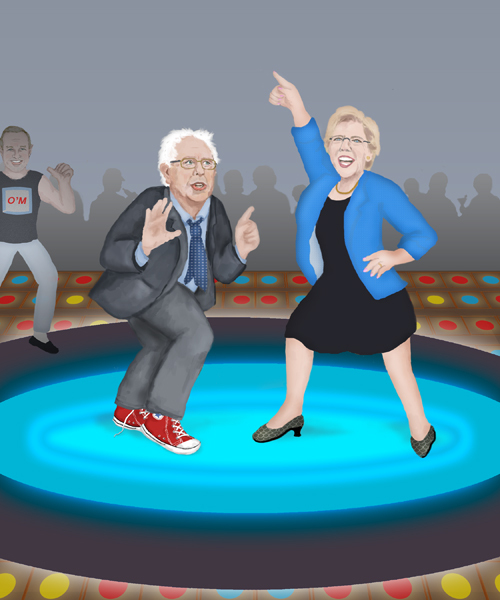 sanders_warren_dance_off