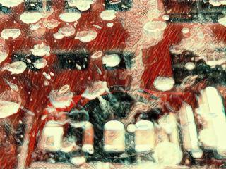 blurred window